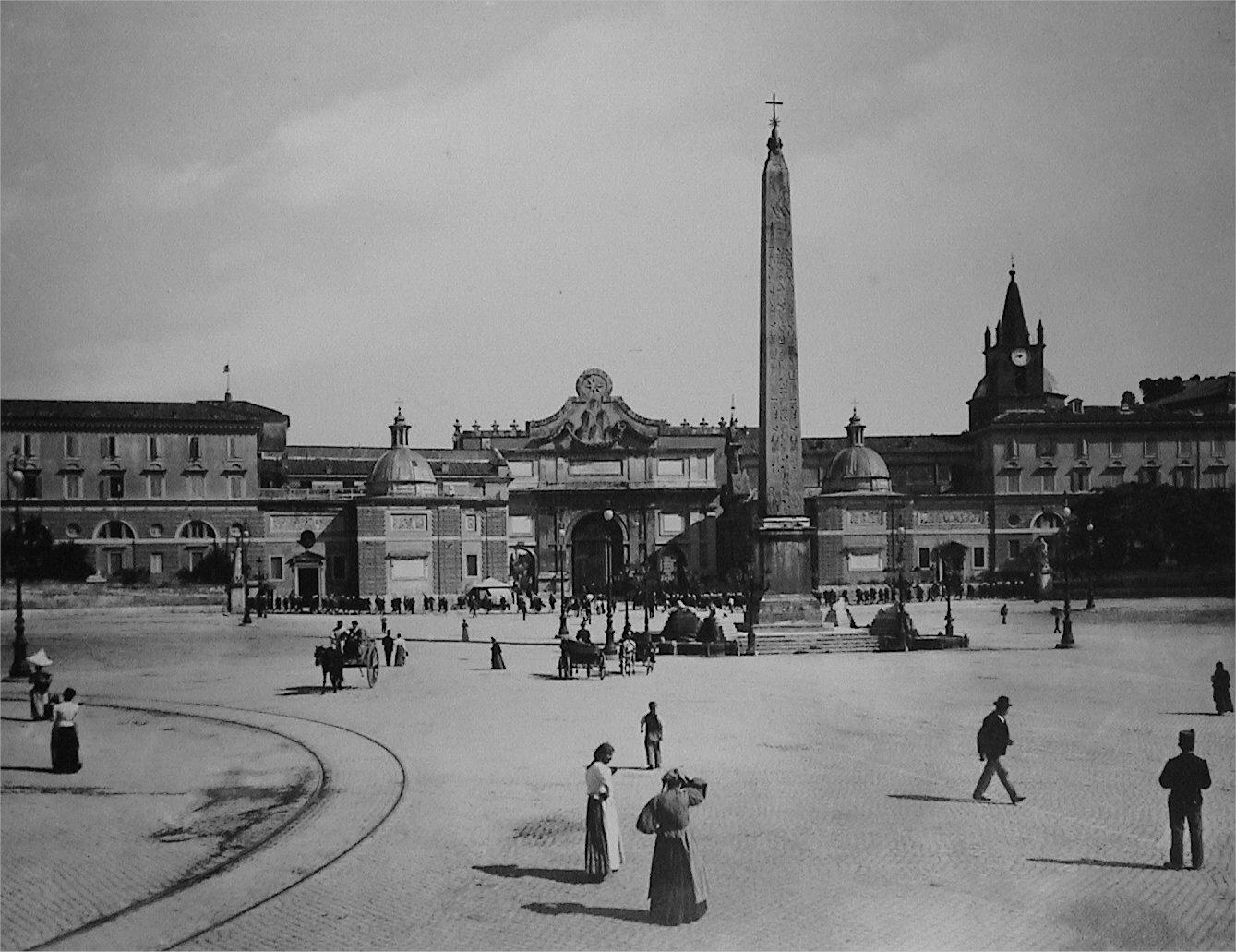 Curiosit romane piazza del popolo for La vecchia roma ristorante roma